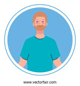 man with eyes closed, meditation, healthy lifestyle