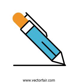 pen writing fill style icon