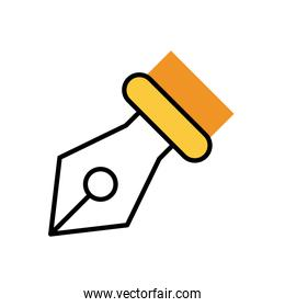 feather font point fill style icon