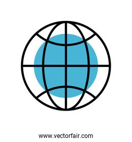 sphere browser globe fill style icon