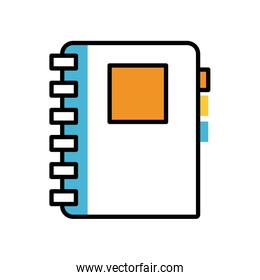 notebook schol supply isolated icon