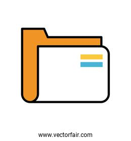 folder file document fill style icon