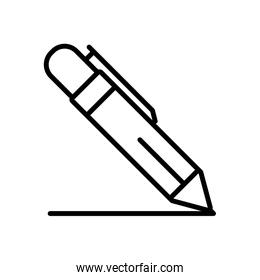 pen writing line style icon