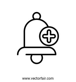 school bell education supply isolated icon