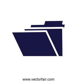 folder file document silhouette style icon