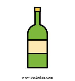 wine bottle drink fill style icon
