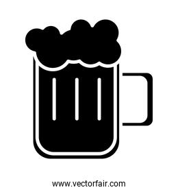 beer jar glass silhouette style icon