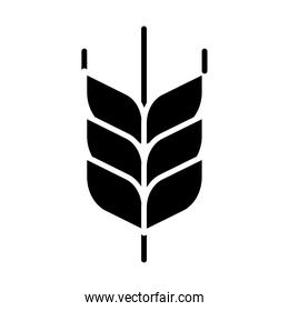 wheat spike silhouette style icon