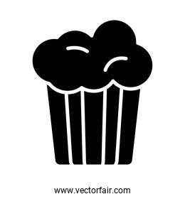 sweet cupcake silhouette style icon
