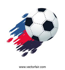 soccer balloon sport with paint colors championship