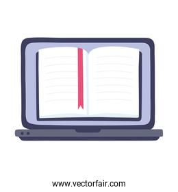 online training, laptop computer ebook literature, education and courses learning digital