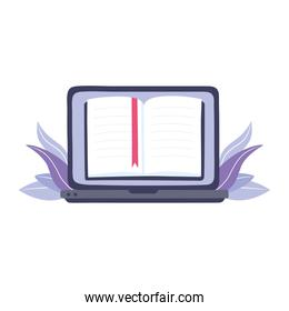 online training, laptop ebook lesson read education and courses learning digital