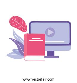 online training, computer book education and courses learning digital