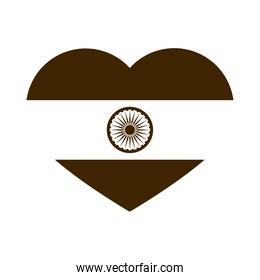 happy independence day india, flag shaped flag patriotism silhouette style icon