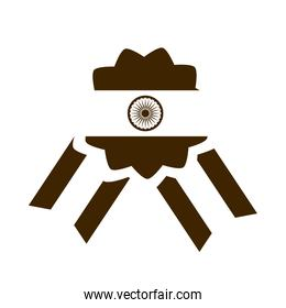 happy independence day india, badge proud national festive silhouette style icon