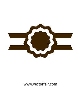 happy independence day india, label and ribbon flag insignia silhouette style icon