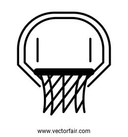 basketball game, hoop and net equipment recreation sport silhouette style icon
