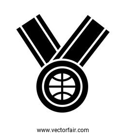 basketball game, medal award recreation sport silhouette style icon