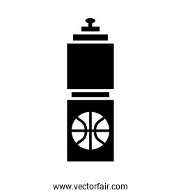 basketball game, hydration bottle equipment recreation sport silhouette style icon