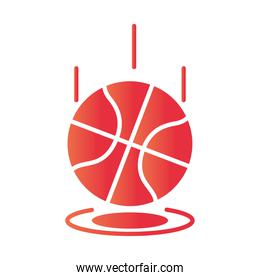 basketball game, bouncing ball recreation sport gradient style icon