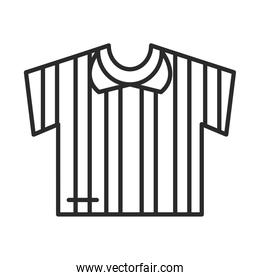 soccer game, jersey referee equipment league recreational sports tournament line style icon