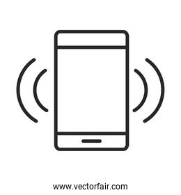 mobile phone or smartphone connection internet electronic technology device line style icon