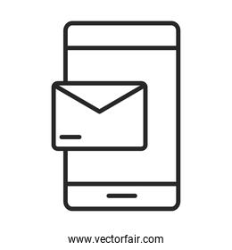 mobile phone or smartphone email message electronic technology device line style icon