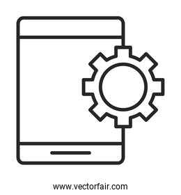 mobile phone or smartphone settings electronic technology device line style icon