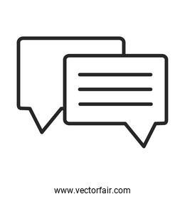 speech bubble chat message sms line style icon