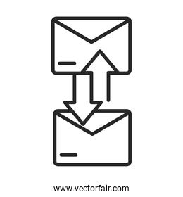 email envelope communication courier line style icon