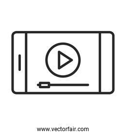mobile phone or smartphone website video electronic technology device line style icon