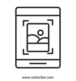 mobile phone or smartphone photo gallery electronic technology device line style icon