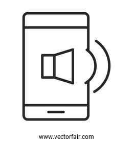 mobile phone or smartphone audio volume electronic technology device line style icon