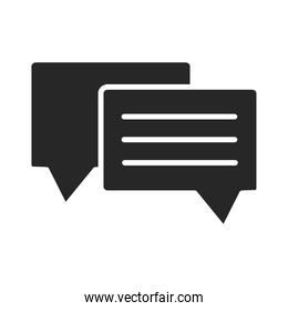 speech bubble chat message sms silhouette style icon