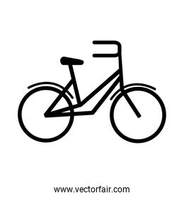 bike transport recreational sport in silhouette style isolated icon
