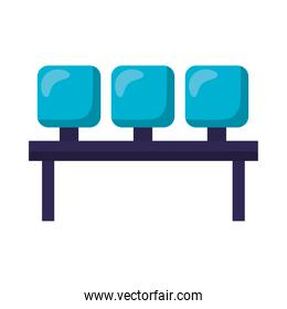 Isolated airport chairs vector design
