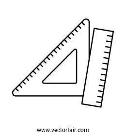 ruler line style icon vector design
