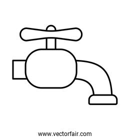 water tap line style icon vector design
