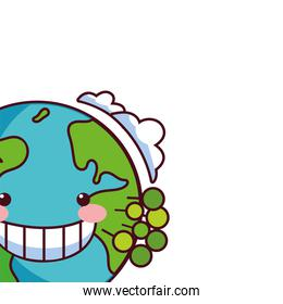 earth globe happy for preservation nature