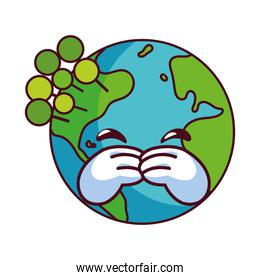 earth globe happy for preservation