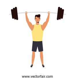 Man with weight vector design