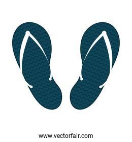 Isolated blue sandals vector design