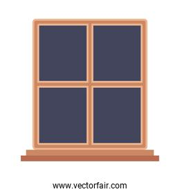 Isolated wood window vector design