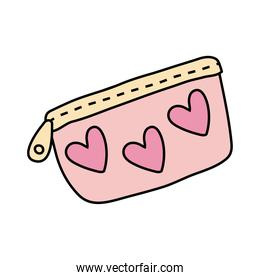 pencils case with hearts free form style icon
