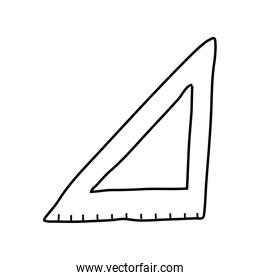 triangle rule line style icon