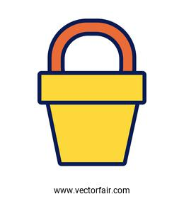 sand bucket line and fill icon