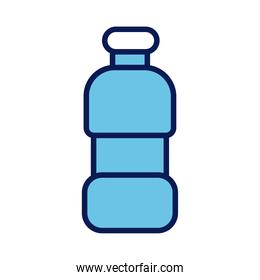 plastic bottle drink line and fill style icon