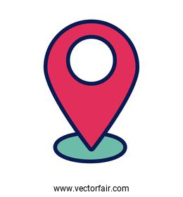 pin pointer location line and fill style icon
