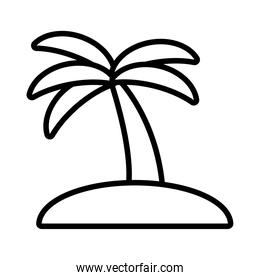 tree palms summer line style icon