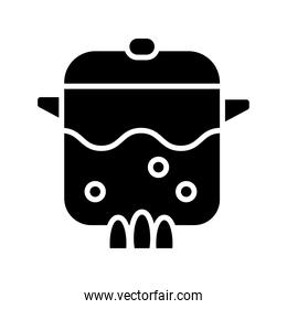 boil the water silhouette style icon